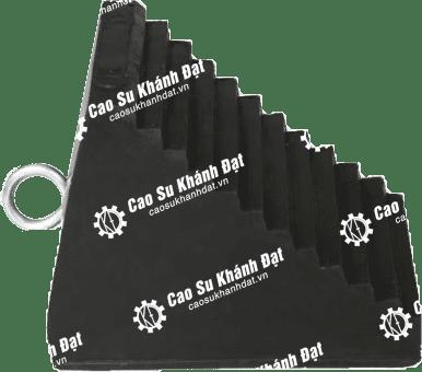 Cục chặn bánh xe cao su tam giác