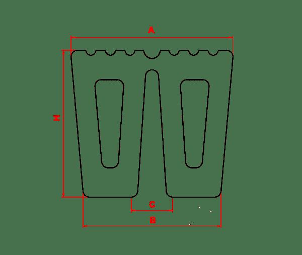 Đệm chống va chữ W - chữ M